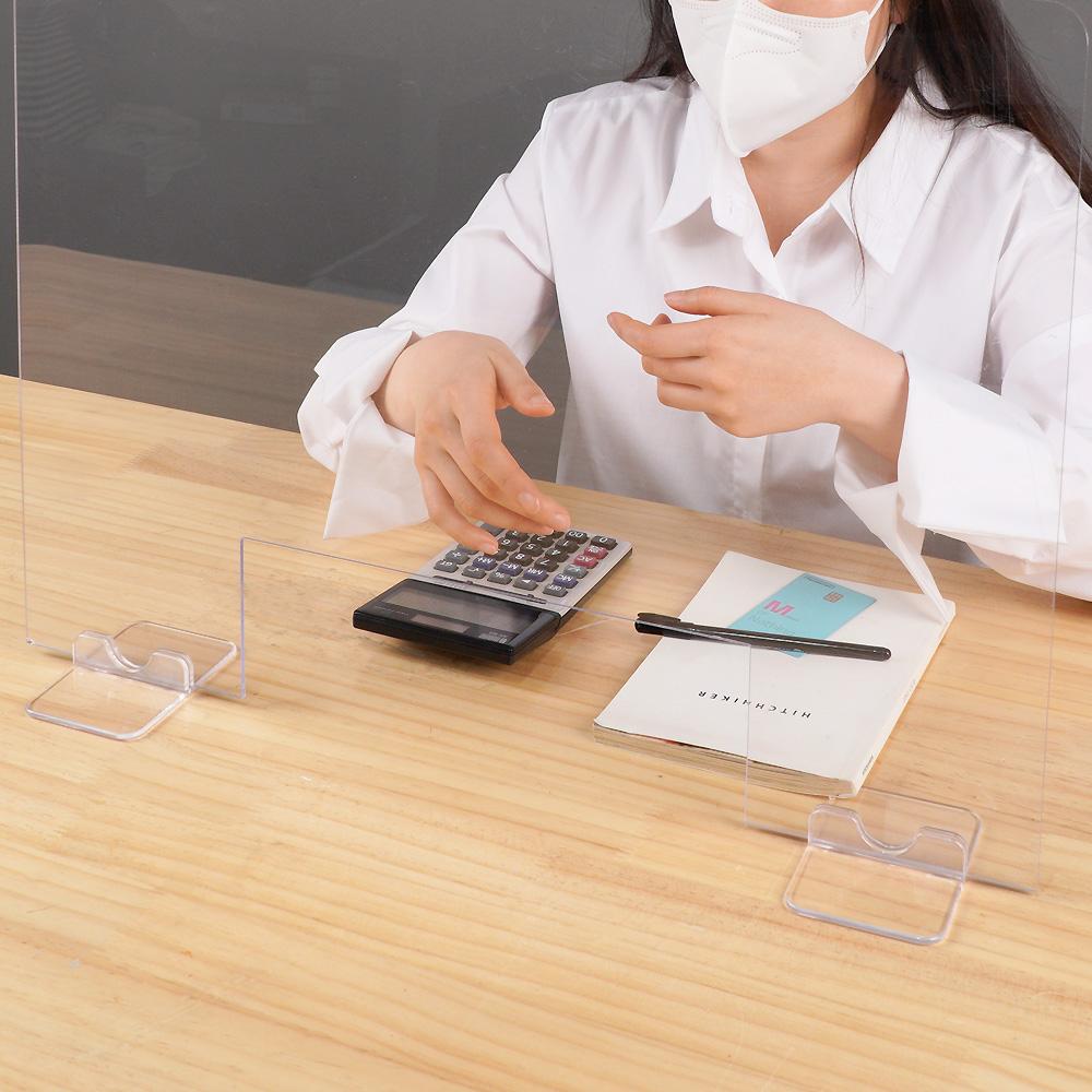 안심공간 투명 가림막 비말차단 코로나 칸막이_2type (일반형,창구형)