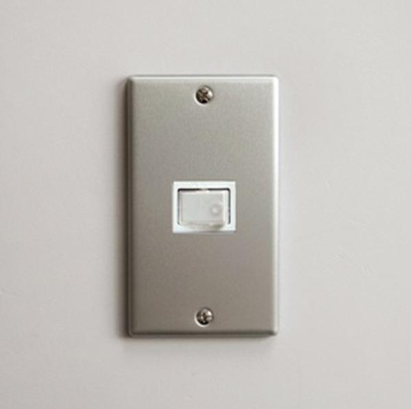 P.F.S. Switch plate Alumi_1구 Plain