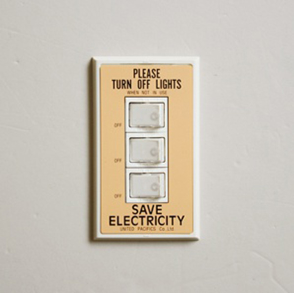 P.F.S. Switch plate_3구 Orange