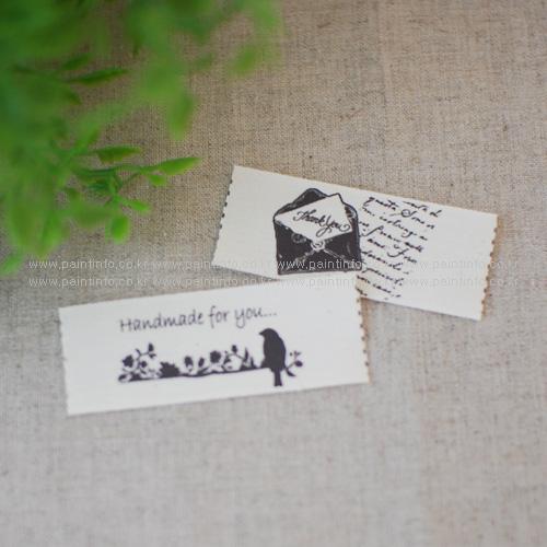 QC/ 면라벨-우표와 항공봉투(5Cut)