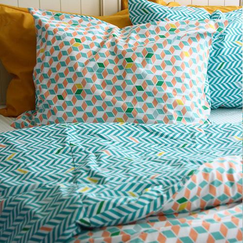 NE/1마] 파스텔 북유럽 패턴 - Cube Repeat Pattern Water Bubble Washing Cotton