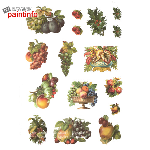 리폼아트 스티커08 과일