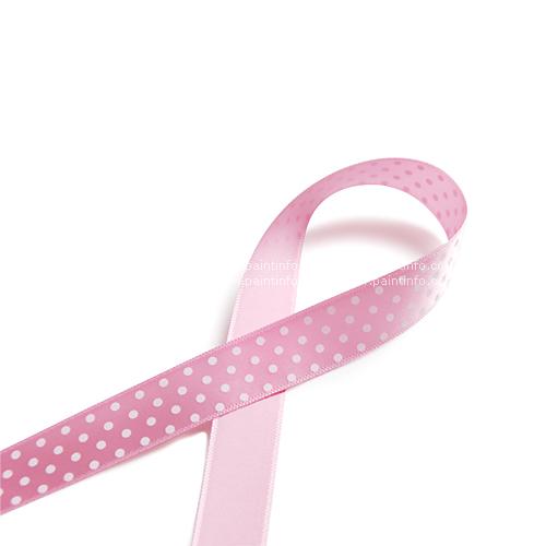미니 도트 리본 핑크