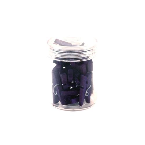 칼라 나무집게 purple