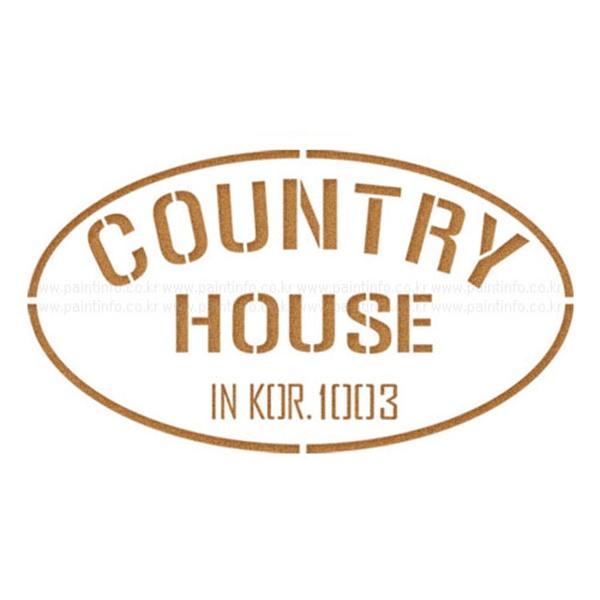스텐실본 country house