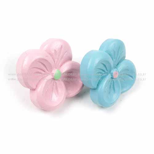 파스텔손잡이 꽃잎(블루,분홍)