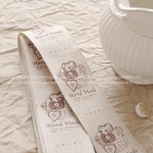 QC/ Heart basket Cotton Label