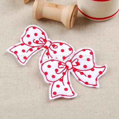 WD/cutie ribbon 와펜(레드)