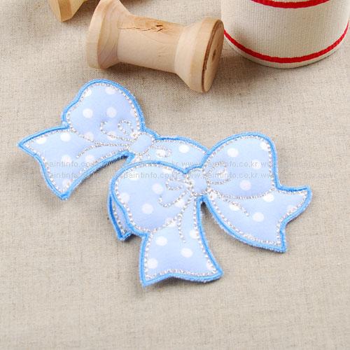 WD/cutie ribbon 와펜(스카이)