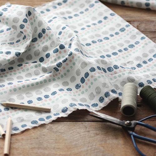NE/1마/ 1월달력/ 스탬프도트] Stamp Pebble Pattern Cotton