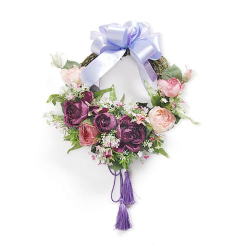 로얄로즈 리스 (바이올렛&핑크)