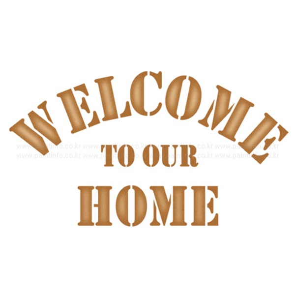 스텐실본 welcome to our home
