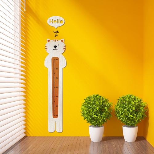 [우드스티커]키재기-고양이 (반제품) - 입체우드 월데코  포인트 우드스카시 벽장식