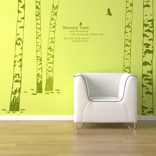디테일자작나무 (5그루)  그래픽스티커 포인트  시트지