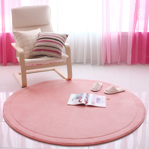 메모리폼 러그 150원형-핑크