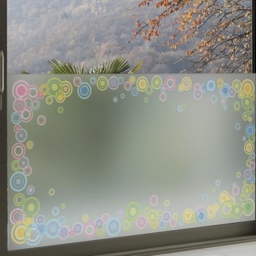 dgcn071-써클라운드-무점착 반투명 창문 시트지