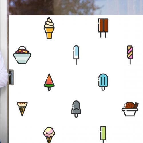 nang225-아이스크림 아이콘-뮤럴실사 시트지