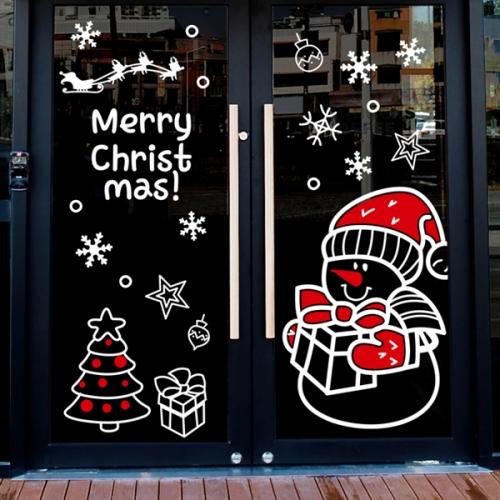 cmi290-눈사람과 메리크리스마스-크리스마스스티커