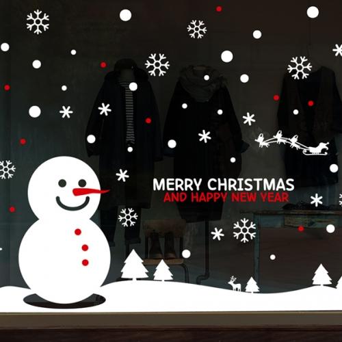 cmi297-눈사람의 하루-크리스마스스티커