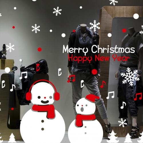 cmi310-눈사람의 멜로디-크리스마스스티커