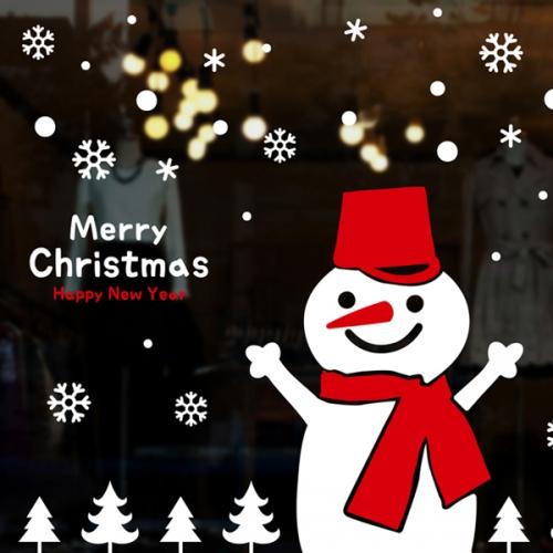 cmi314-못난이 눈사람과 크리스마스-크리스마스스티커