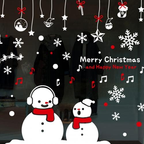 cmi316-눈사람의 하모니-크리스마스스티커