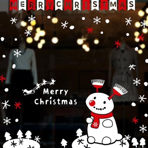 cmi200-귀여운 강아지 눈사람-크리스마스스티커