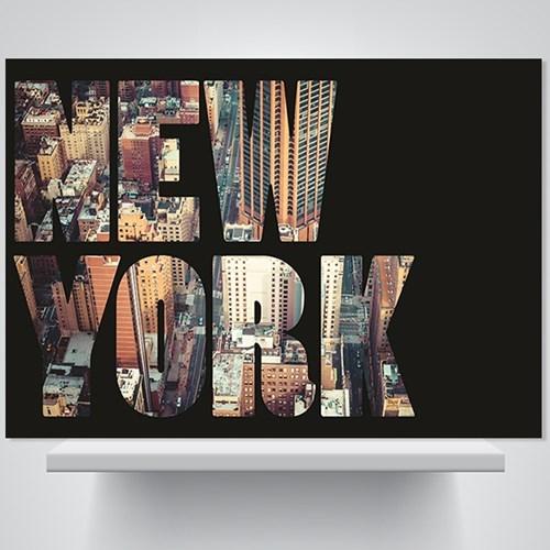 뉴욕 심플 블랙 - 감성사진 폼보드 액자