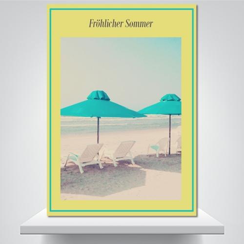 행복한 여름 - 감성사진 폼보드 액자
