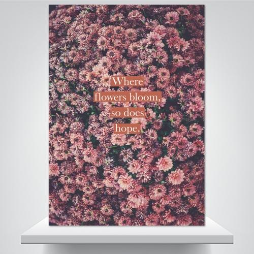 꽃처럼 피어나길 - 감성사진 폼보드 액자