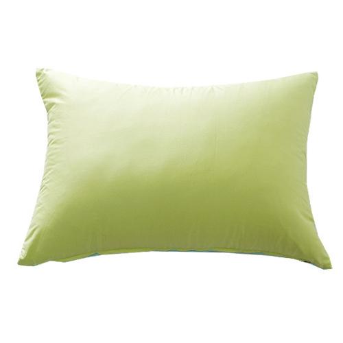 mint + yellow green pillow