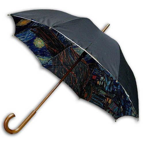 Hello RainCats 고흐-별이 빛나는 밤2(W) 이중 자동우산