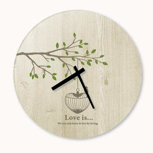 [디자인 시계]사랑이란 우든