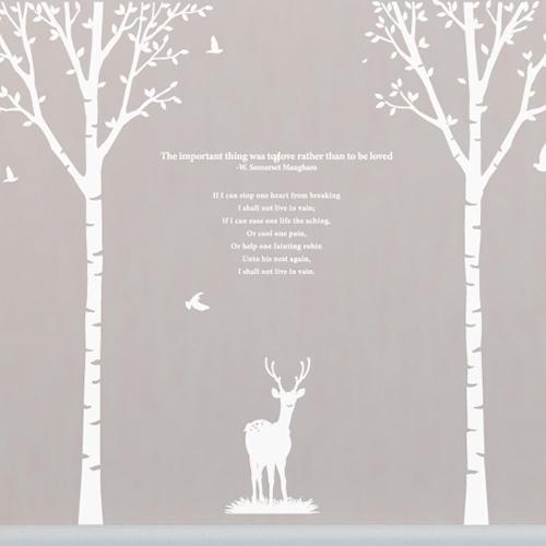 [나무] 자작나무 2set - 사슴
