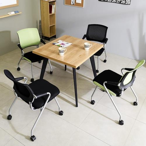 철제테이블세트 900 책상 사무실탁자 회의테이블(의자포함)(K27-89)