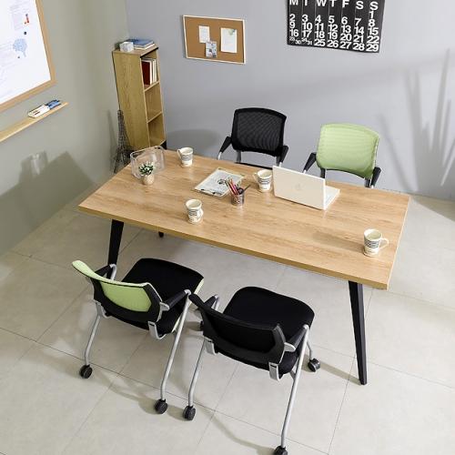 철제테이블세트 1500 책상 사무실탁자 회의테이블(의자포함)(K27-815)