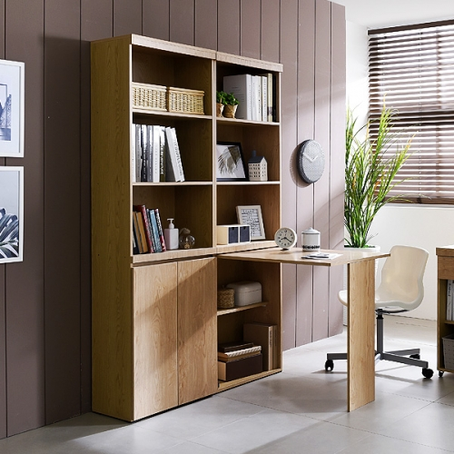 오픈형책장 접이책상 오크탁자 보조테이블 서랍장책상(SI041)