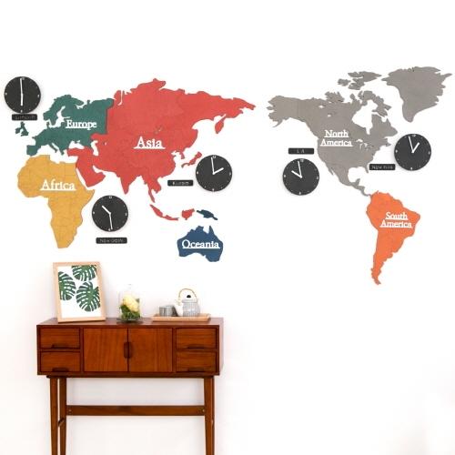 Big eco mix 컬러 세계지도 시계