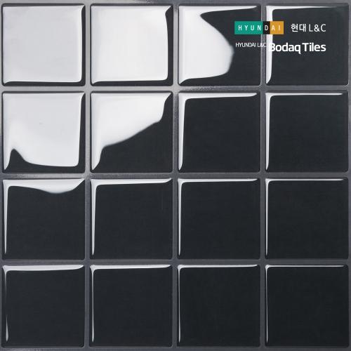 [현대L&C]손쉽게 붙이는 보닥타일 빅스퀘어 다크그레이