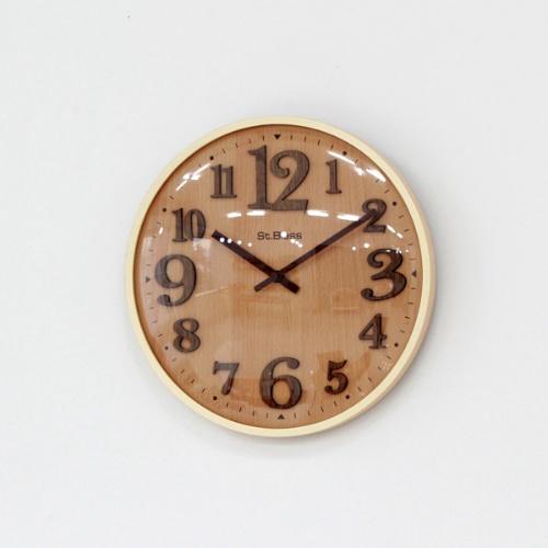 제이드 우드벽시계2 (2color)