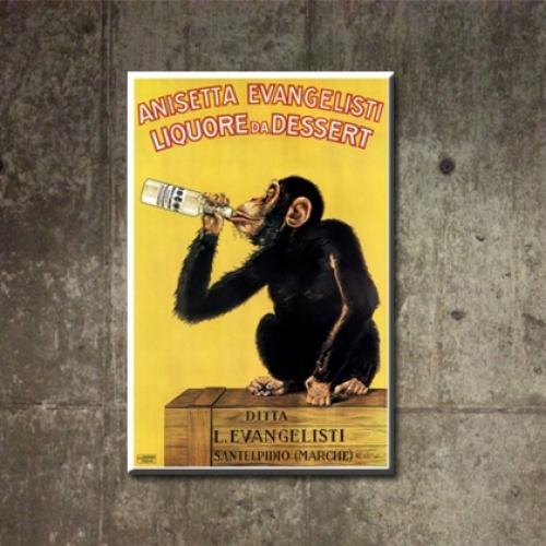 카페인테리어 캔버스액자 아트 켄버스 그림 소품 빈티지 패러디 몽키 침팬지 m-9