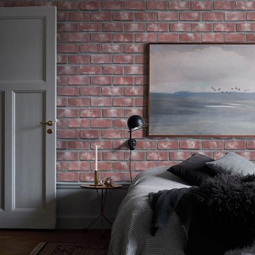 [초간편 셀프도배] 물에빠진 조각벽지-에쉬레드 브릭 MG214 (낱장)
