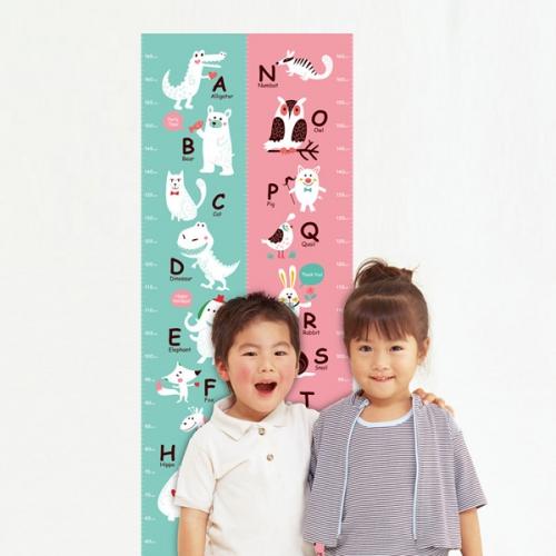 [꼼지락닷컴]키재기 스티커/시트지(선택6:알파벳N~Z핑크)