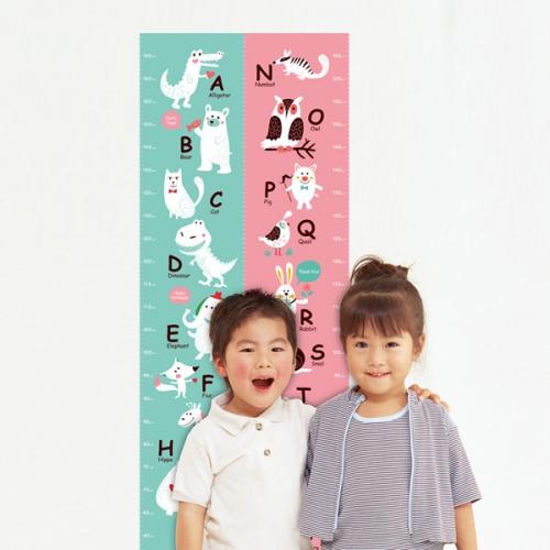 [꼼지락닷컴]키재기 스티커/시트지(선택5:알파벳A~M민트)