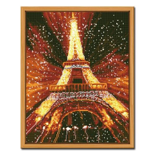 DIY 액자형 보석십자수_[D606] 찬란한 에펠탑