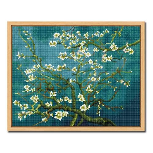 DIY 액자형 보석십자수_[D602] 고흐의 꽃피는 아몬드나무