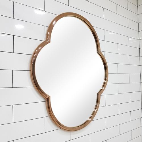 크로바 로즈골드 스테인레스 프레임 거울-T