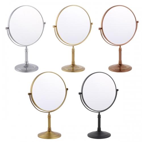 스탠드 양면 화장거울(크롬/엔틱블랙/청동/골드/로즈골드)