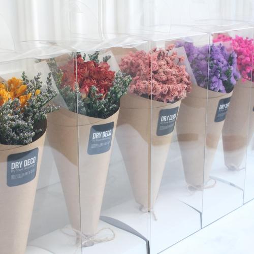 드라이플라워 미디엄 꽃다발 모음전/프리저브드 작은꽃다발-안개꽃, 프리지아