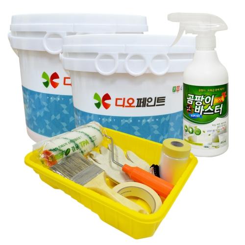 [베란다리폼세트] 결로/곰팡이방지 페인트 세라믹플러스 1L, 2개 + 도구세트 + 곰팡이제거제